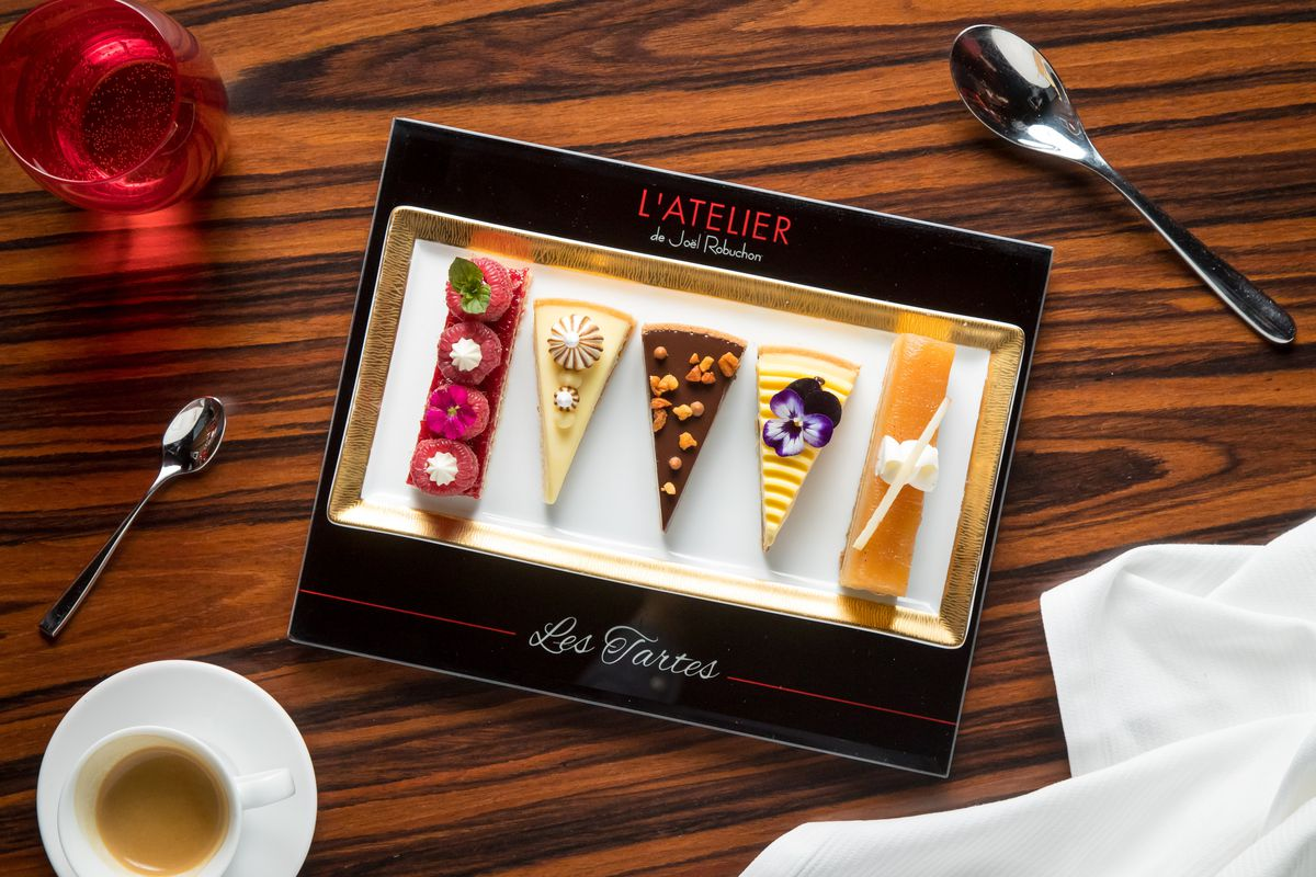 The selection of tarts at L'Atelier
