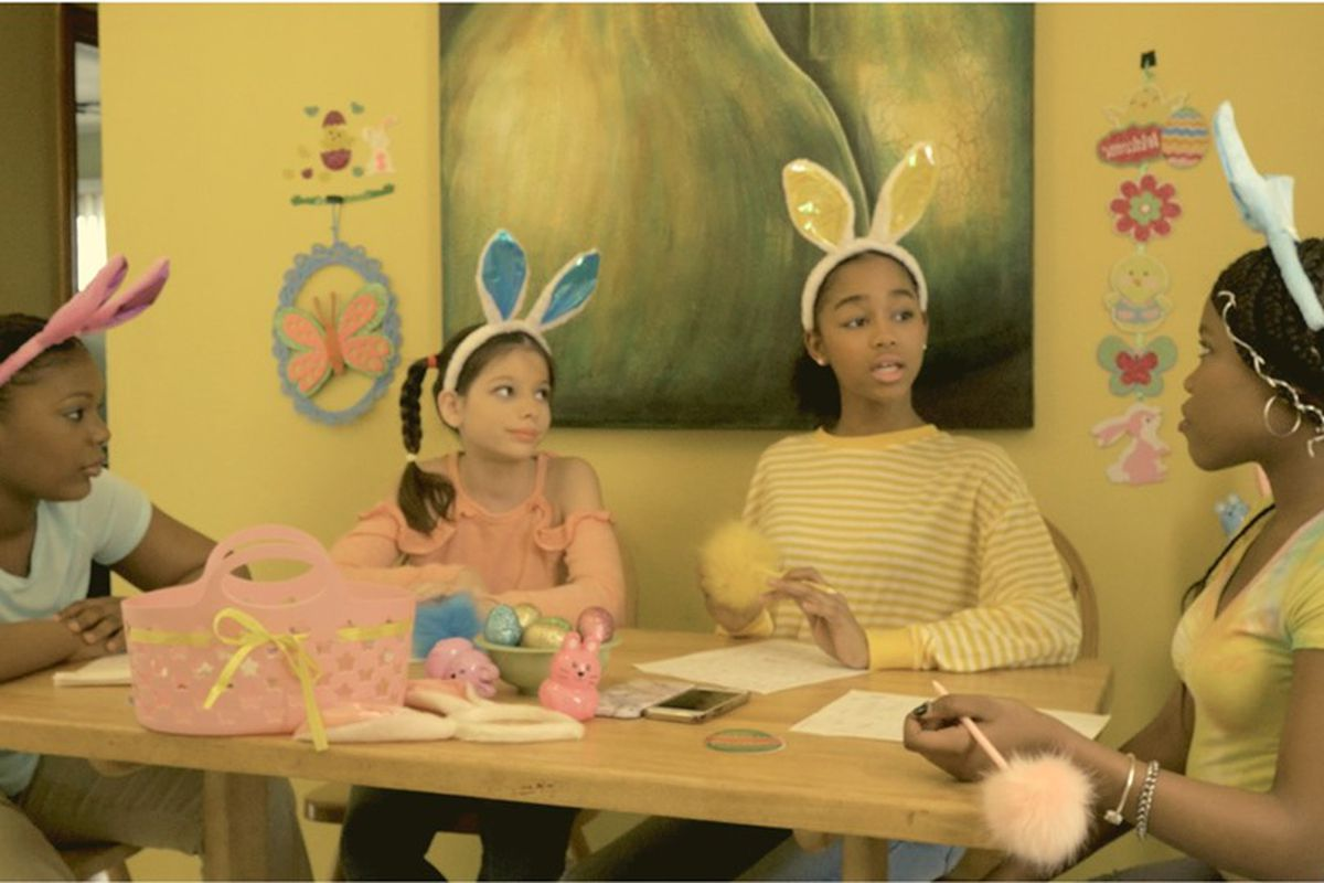 """Tiyah Owens (from left), Sophie Esposito, Lupe Hernandez and Jazmine Bryce are four young girls who make up the """"A Sisterhood of Signatures."""""""