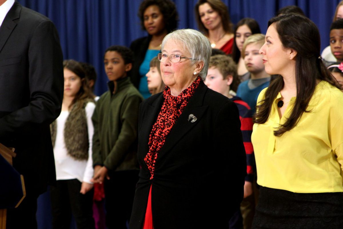 Carmen Fariña at an event this month where she was named schools chancellor.