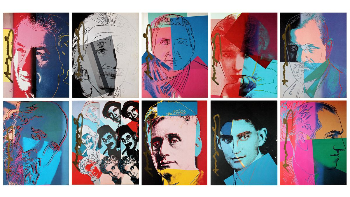 """""""Andy Warhol's Ten Portraits of Jews of the 20th Century,"""" Spertus Institute Collection."""