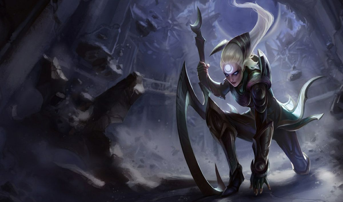 Diana, a female moon paladin in League of Legends