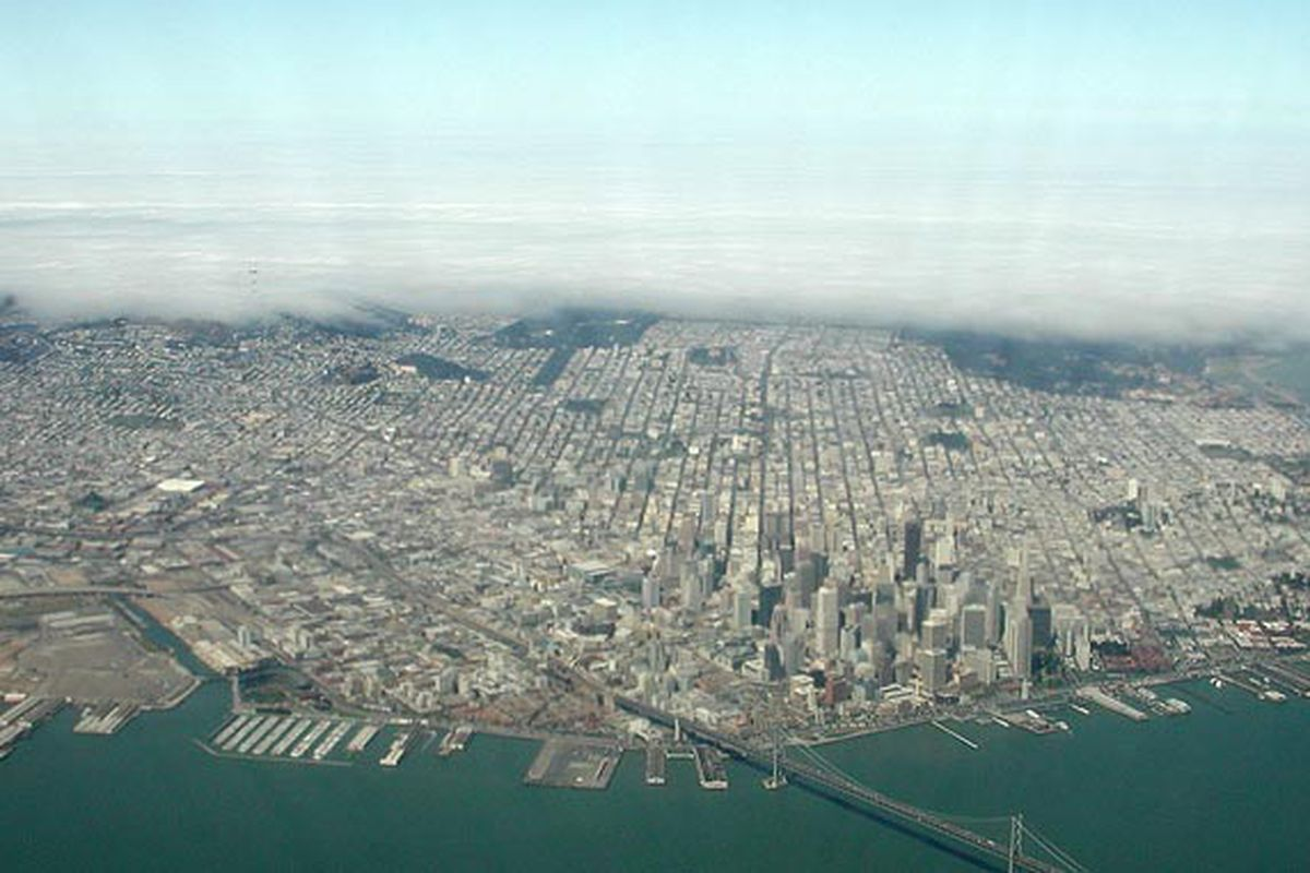 An aerial photo of San Francisco.