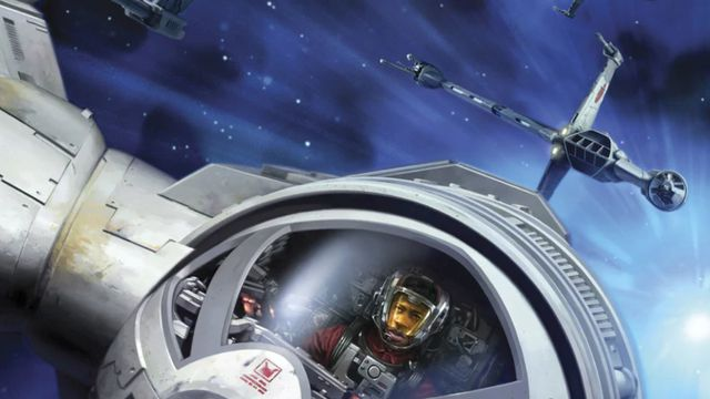 A close-up of a B-Wing pilot from Blade Squadron.