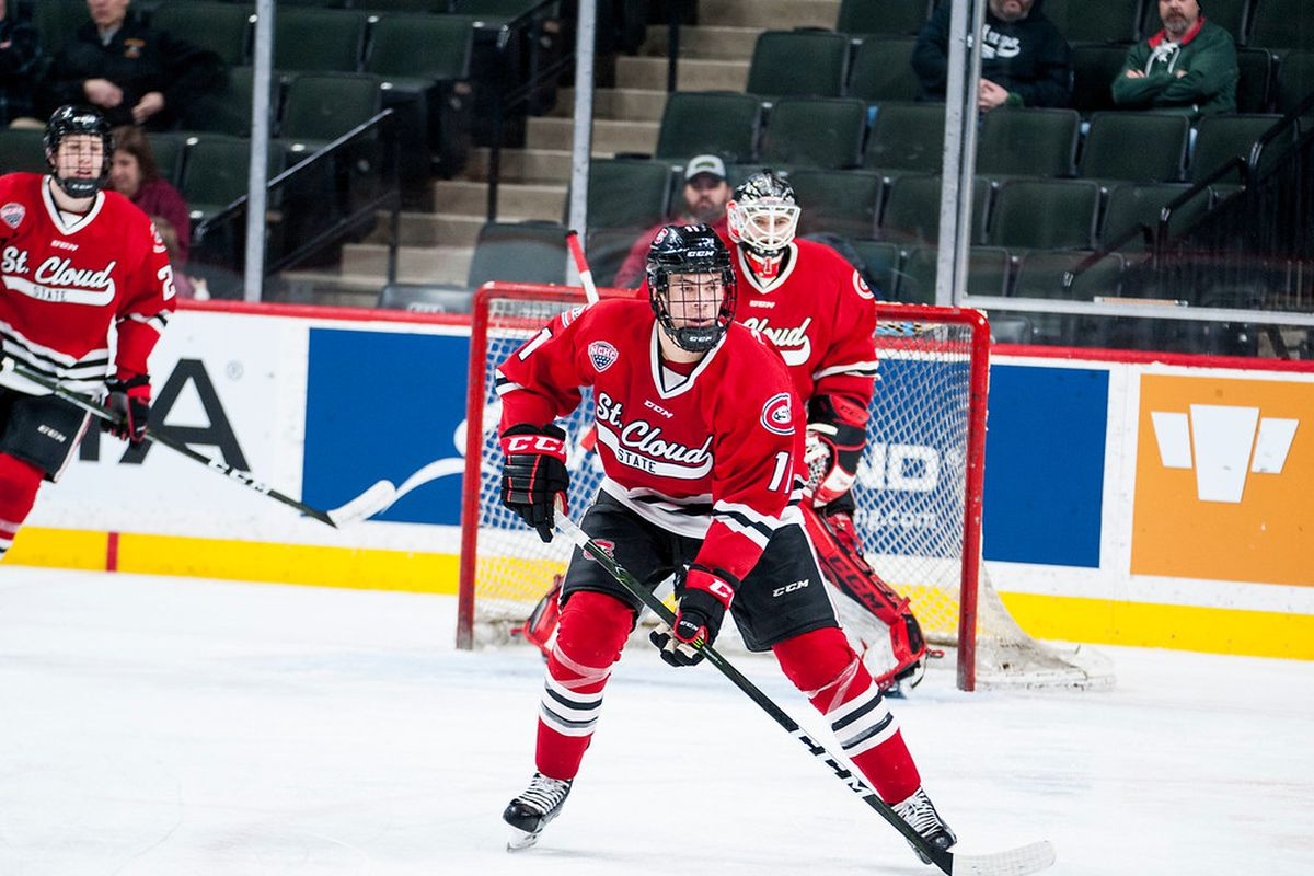 Image result for st cloud state hockey 2018