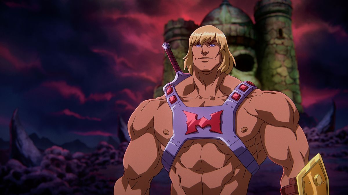 He-Man roiding out in Masters of the Universe: Revelation