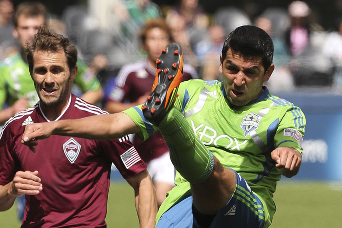 Leo Gonzalez's continued contribution keeps the Sounders deep at left back. (Photo by Otto Greule Jr/Getty Images)