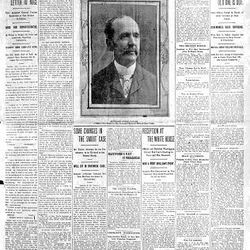 The Deseret News for Jan. 2, 1905, announcing the inauguration of  John C. Cutler as Utah's second governor.