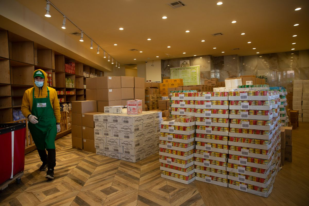 The Masbia food pantry in Borough Park has worked to procure enough food to operate 24 hours per day.