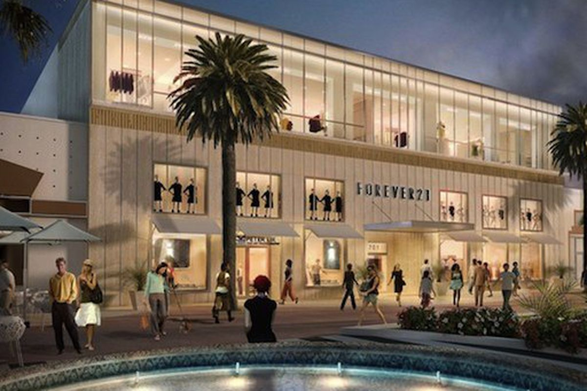 A rendering of the Forever 21 space, slated to open this September