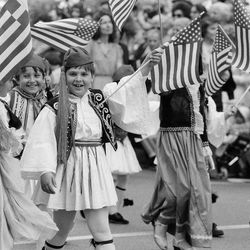 The Greek Independence Parade was held downtown until the 1990s.   Sun-TImes Archives