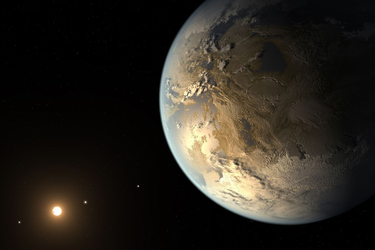 An illustration of Kepler-186f, a potentially-habitable exoplanet discovered in April.