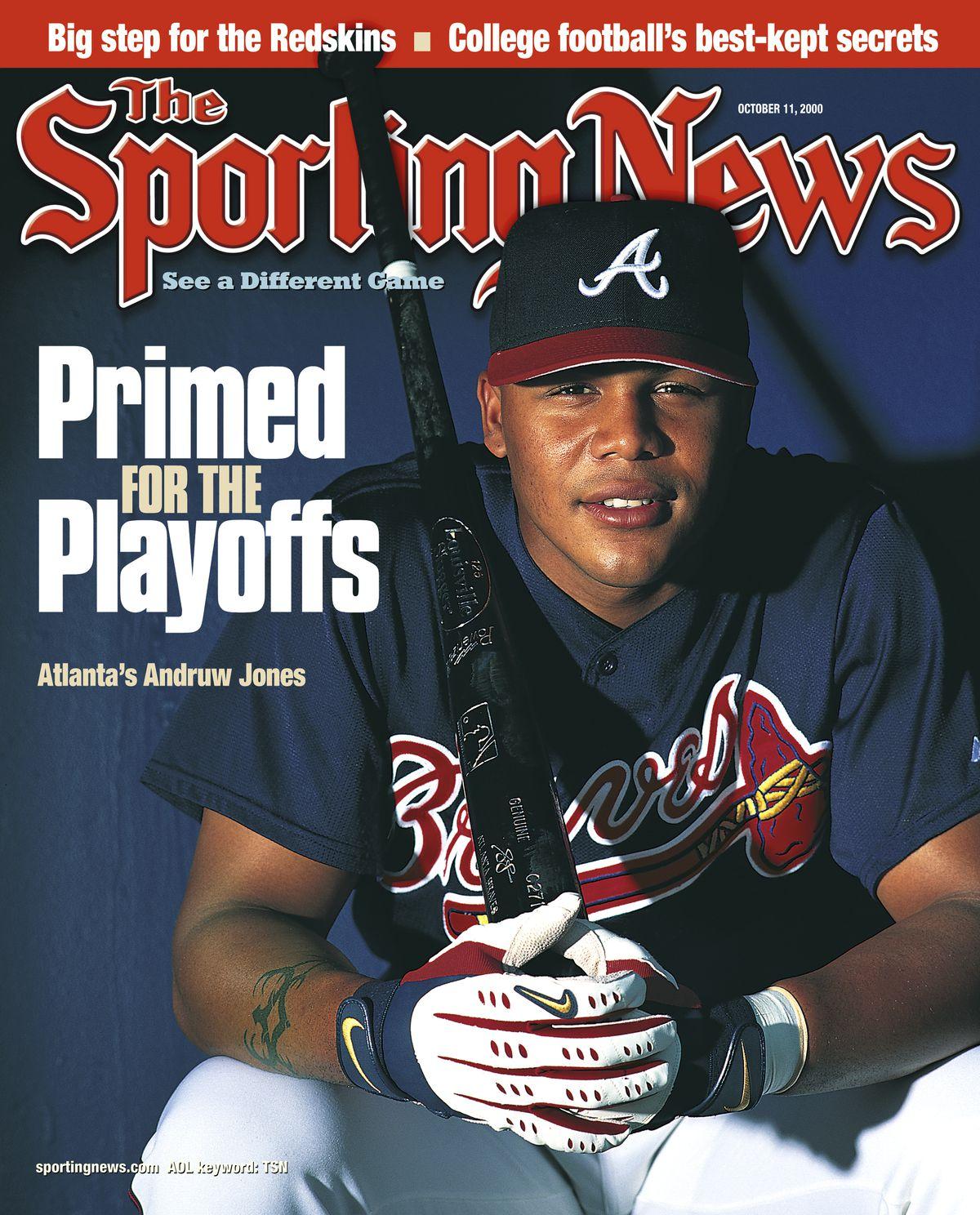 MLB Covers - Atlanta Braves OF Andruw Jones - October 9, 2000