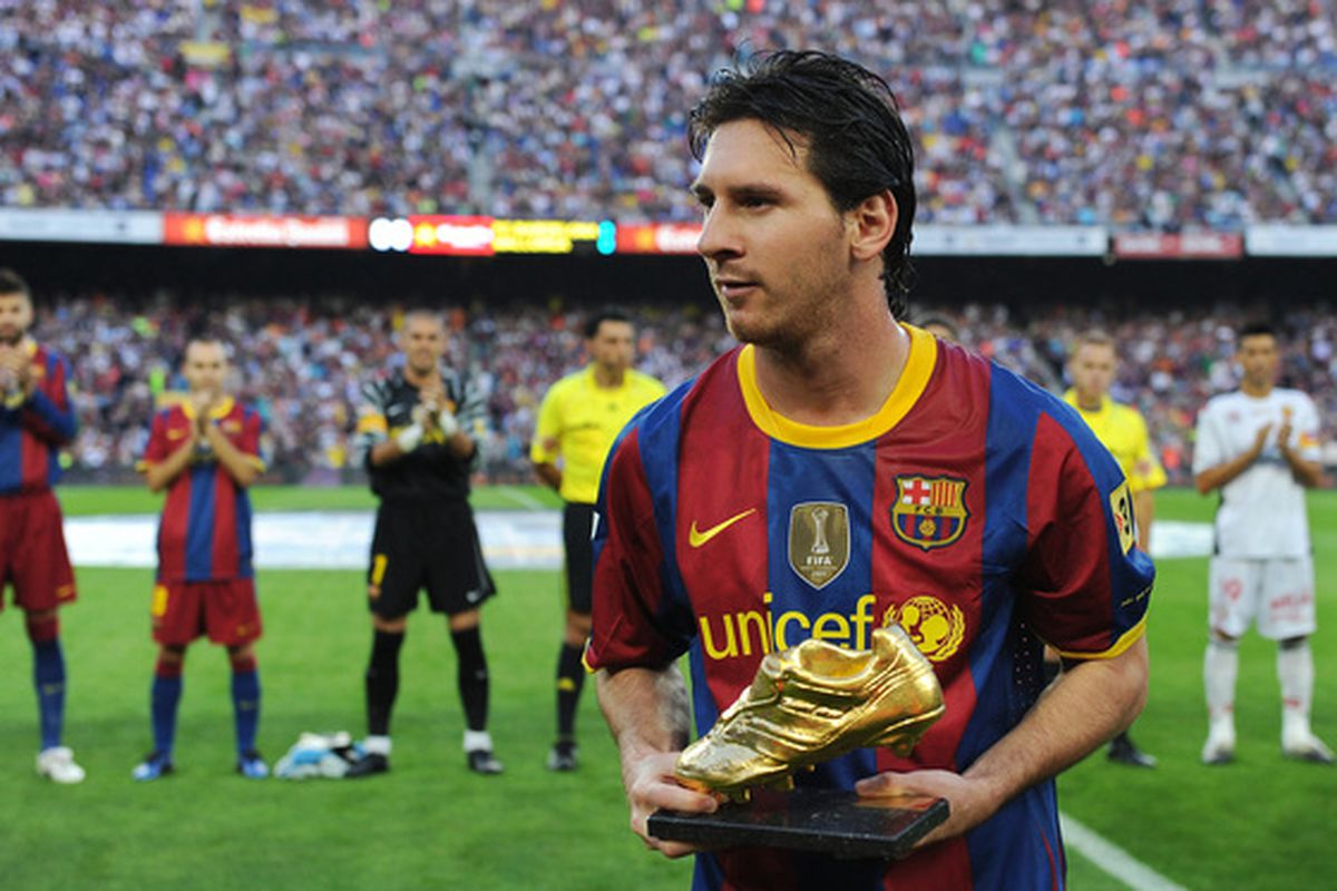 Third one of these for Messi