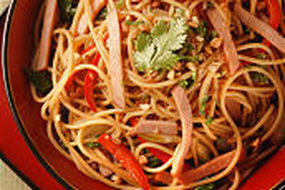 Sichuan-Style Lo Mein is a tasty comfort dish that takes about 25 minutes to prepare.