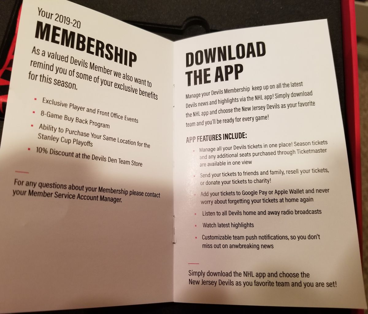 The first two pages of the Membership Guide