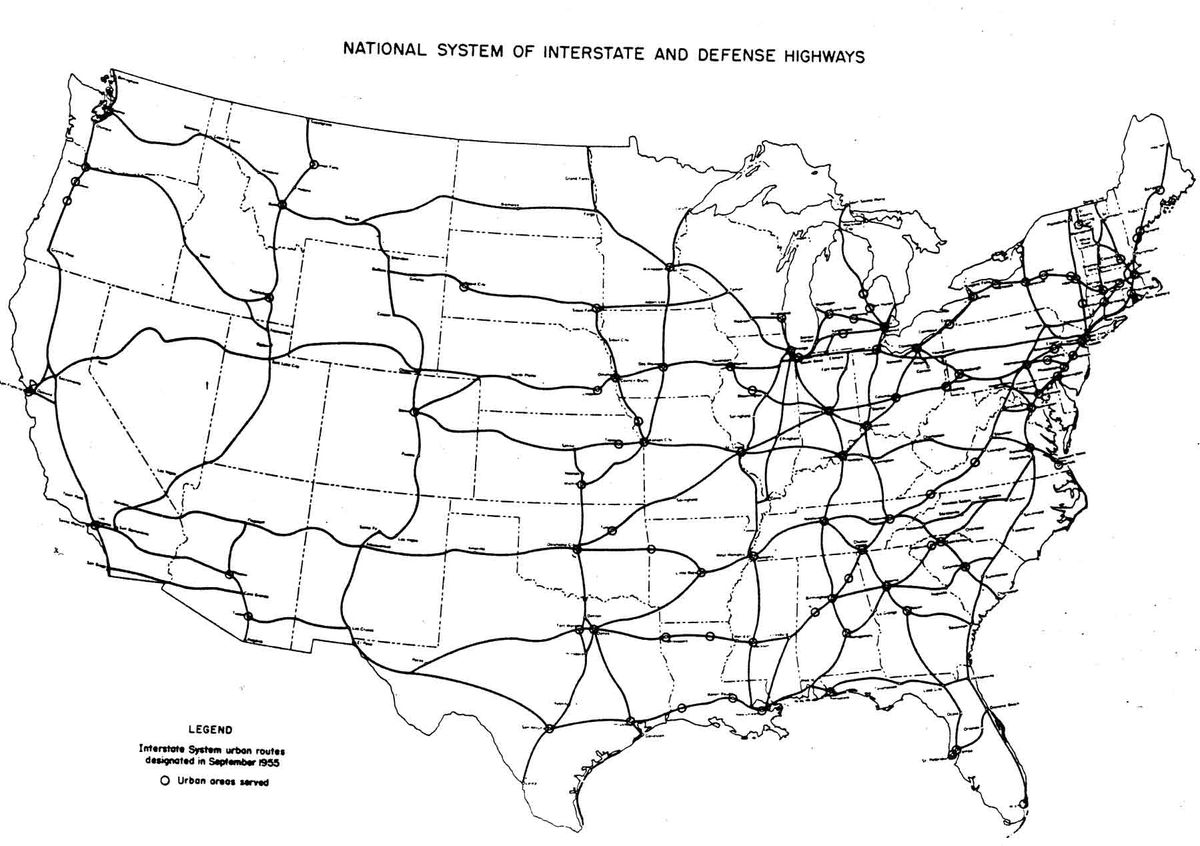 Highways Gutted American Cities So Why Did They Build Them Vox - Map-of-the-us-interstate-system