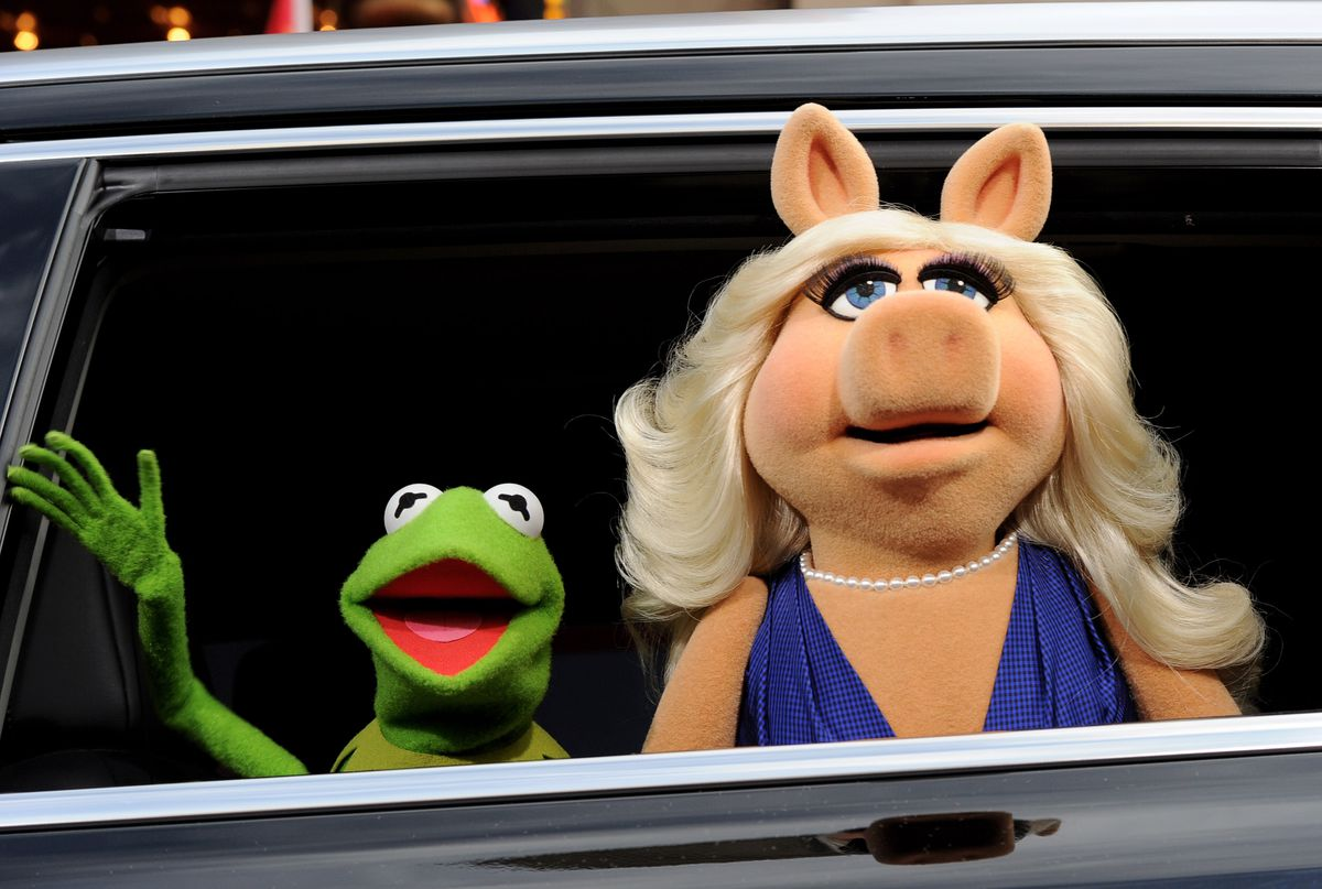 Muppets at the premiere of Disney's 'Muppets Most Wanted'