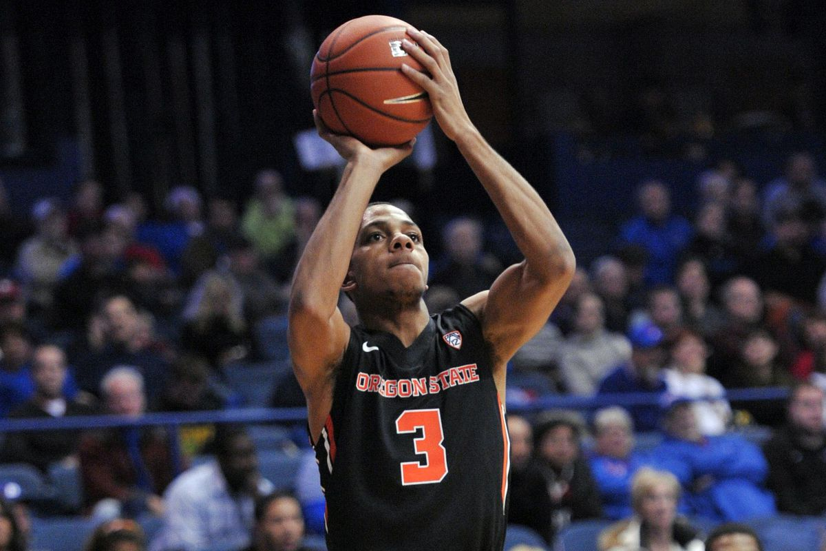 Oregon State's freshman Hallice Cooke helps keep it close at times for the Beavers against the Utah Utes