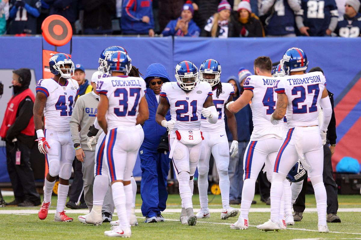 Giants Justin Pugh awaits test results Landon Collins wants to