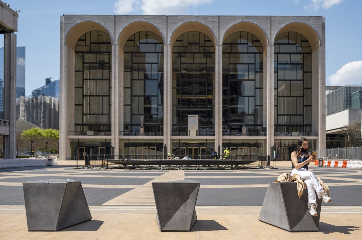 The plaza at Lincoln Center for the Performing Arts will be transformed into green space.