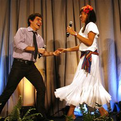 David Archuleta performs with his mother, Lupe, during the 2010 Mentors International Gala. The free performance was a fundraiser to help raise money for micro-credit loans.