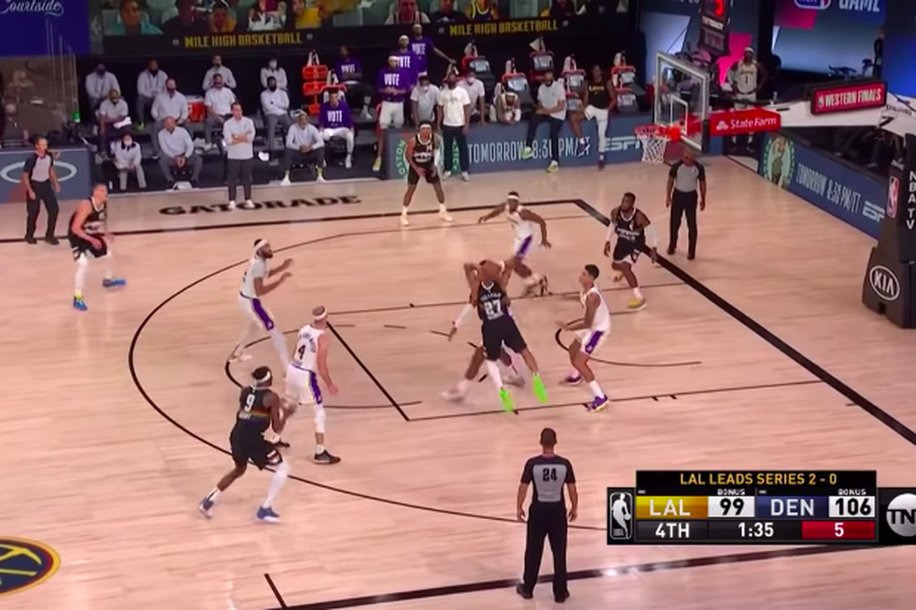 Screen Shot 2020 09 23 at 8.39.37 AM.0 - Jamal Murray's pass to beat the Lakers was his best play of the night