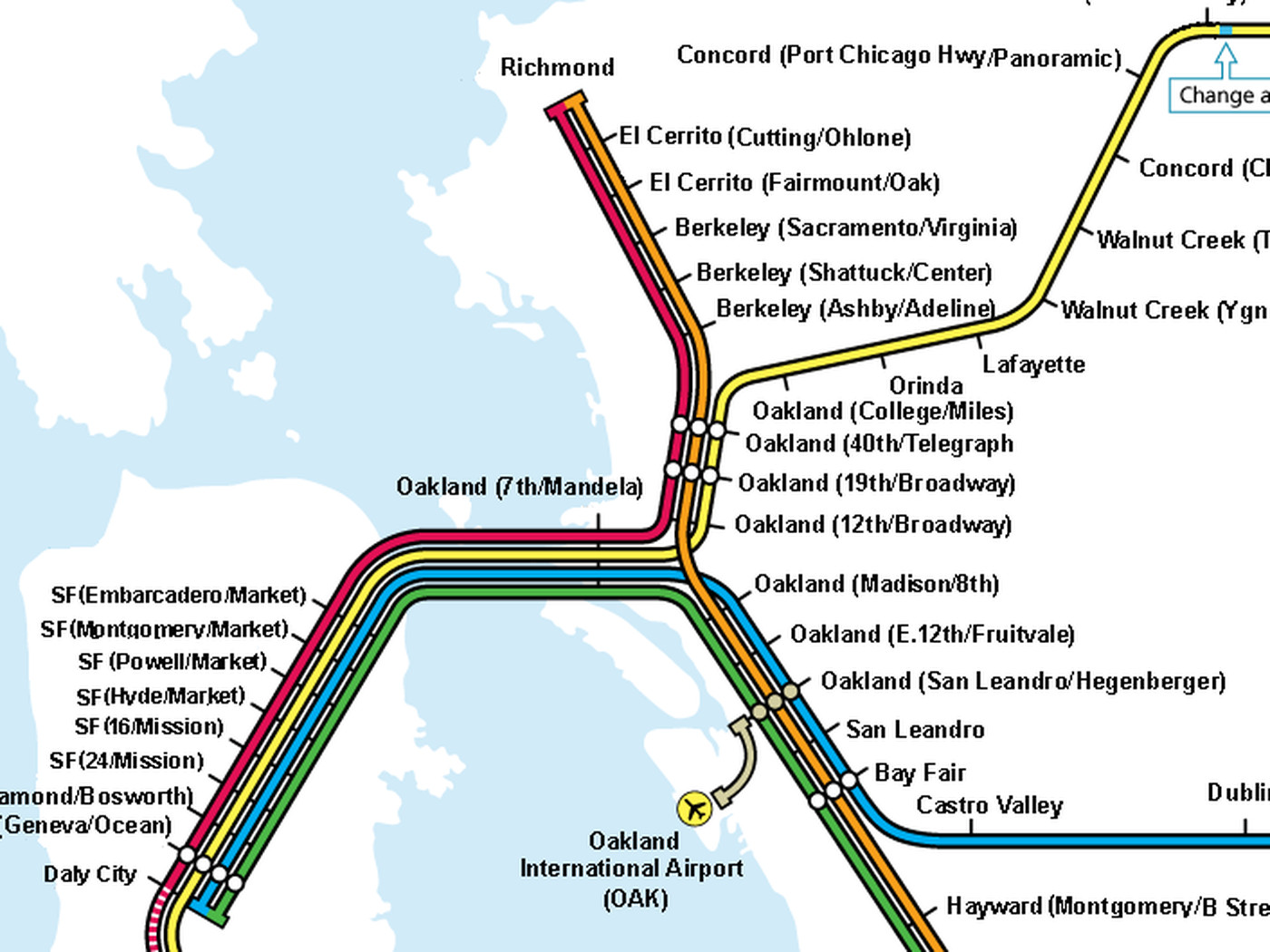 Trying to build a better BART map - Curbed SF on