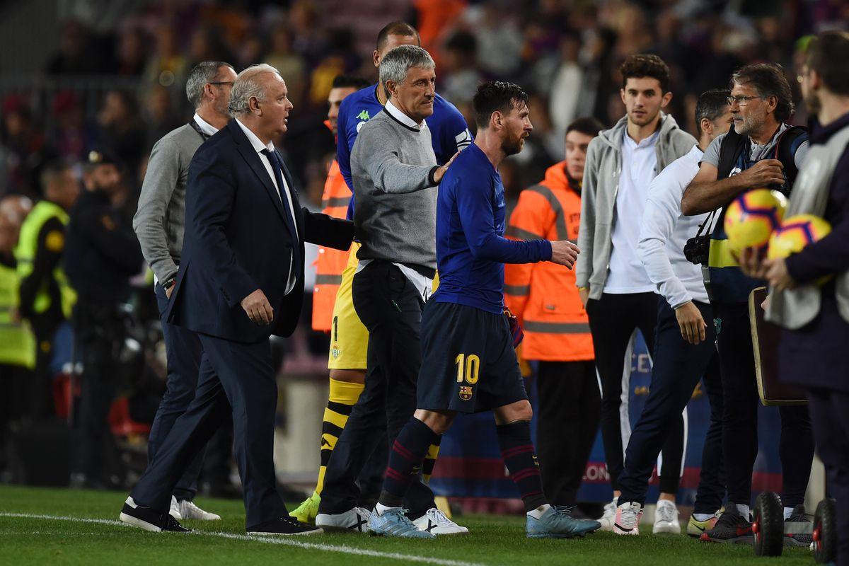 Quique Setien talks managing Lionel Messi at Barcelona