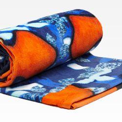 Beach Towel in Red/Iris Print, $24.99.