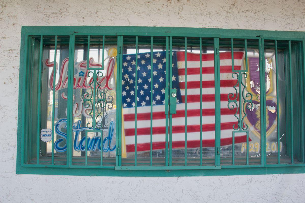A side window at Joe's Bakery