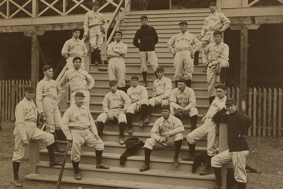 The 1899 St. Louis Perfectos. Cy Young in the lower left.