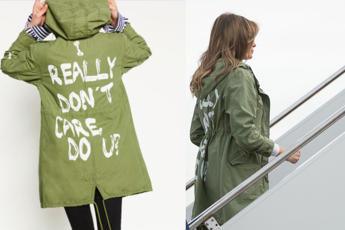Melania Trump Wears I Really Dont Care Do U Jacket Vox