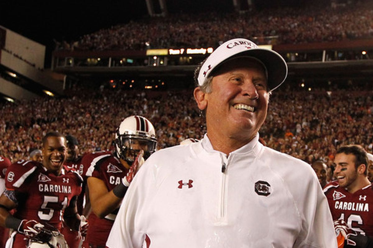 Steve Spurrier may have plenty of reasons to smile in 2014.