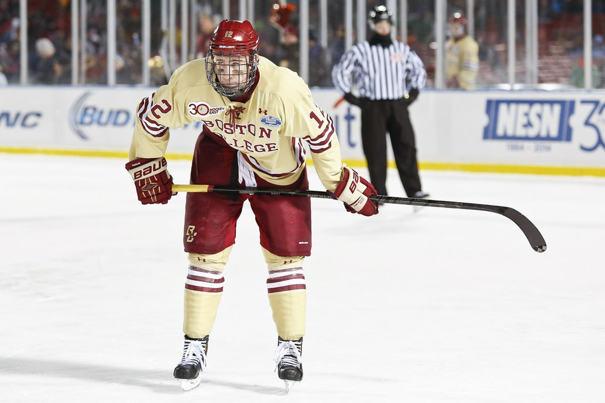 Kevin Hayes and BC will look to break through UMass Lowell's tight defense.