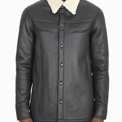 "Fur collared moto jacket, $500 (was $2,500) via <a href=""http://dev2.owennyc.com/shop-men/men-designers/3-1-phillip-lim-f1146542shlm-fur-collared-jacket-nat-blk.html""> Owen NYC </a>"