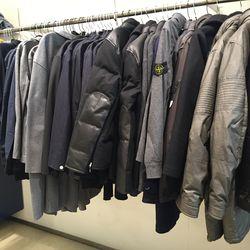 Men's puffers and pea coats