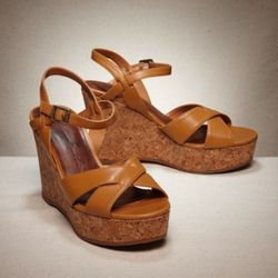 """AEO Strappy Wedge Sandal, $49.50, at <a href=""""http://www.ae.com/web/browse/product.jsp?catId=cat1440005&productId=0416_1771"""" rel=""""nofollow"""">American Eagle</a>"""