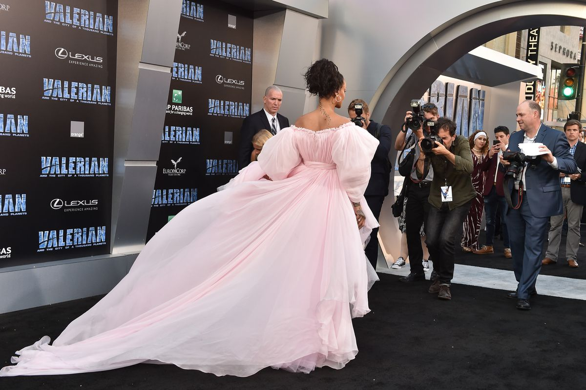 Singer/actress Rihanna arrives at the Los Angeles premiere of 'Valerian and the City of a Thousand Planets' at TCL Chinese Theatre on July 17, 2017 in Hollywood, California.