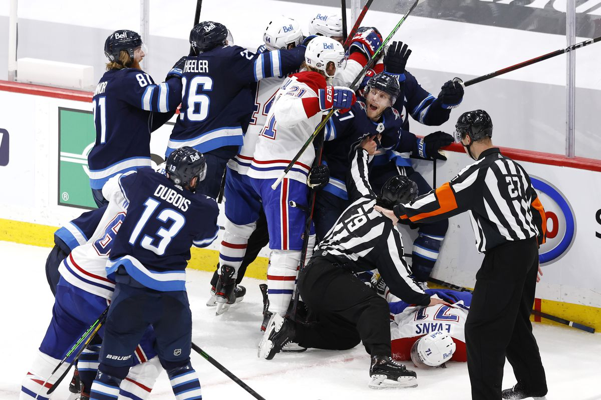 NHL: Stanley Cup Playoffs-Montreal Canadiens at Winnipeg Jets