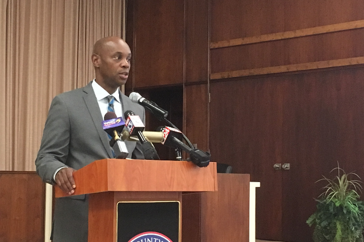 Shelby County Schools Superintendent Dorsey Hopson speaks at a news briefing days before the start of the school year.