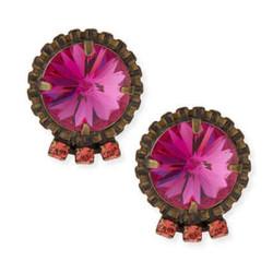 """Bracco Pink Crystal Stud Earrings, $50 (were $170) via <a href=""""http://www.neimanmarcus.com/Dannijo-Bracco-Pink-Crystal-Stud-Earrings/prod172030387/p.prod?ecid=NMAP_earrings_desktop"""">Neiman Marcus</a>"""