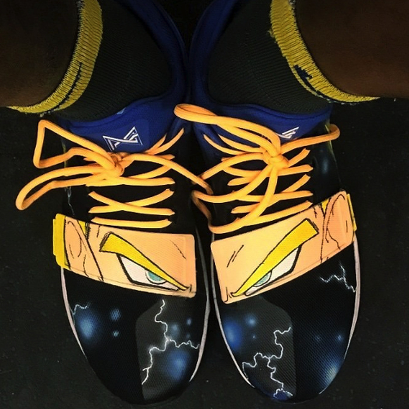 cc29cb322c8 Jordan Bell is rocking custom Dragon Ball Z Vegeta shoes - SBNation.com