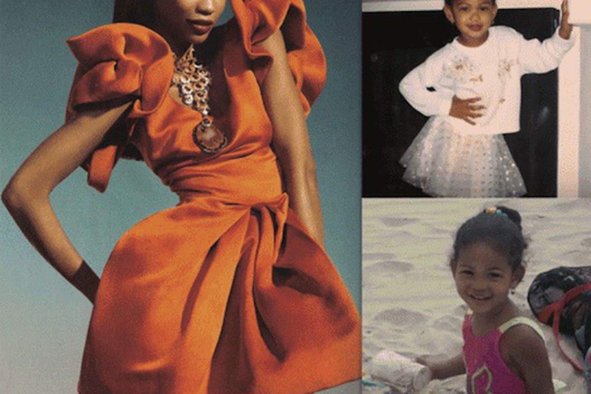 """Chanel Iman via <a href=""""http://fashionista.com/2011/05/before-they-were-supermodels-they-were-super-adorable-kids/"""">Fashionista</a>"""