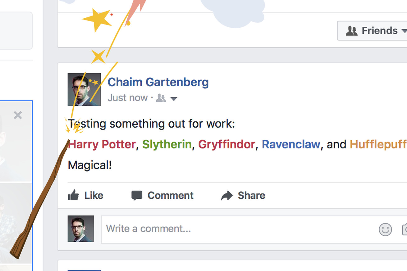 facebook celebrates harry potter s 20th anniversary with a magical easter egg