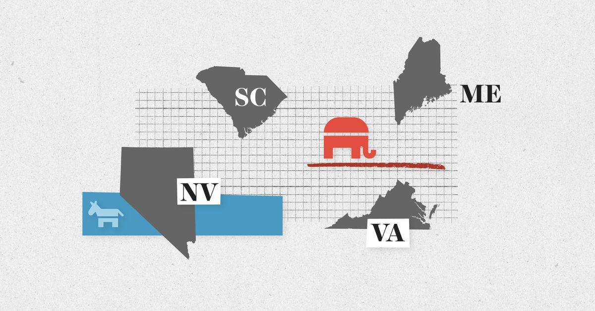 Live results for Virginia, Nevada, Maine, and South Carolina primary elections