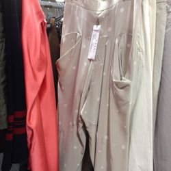 $95 silky polka dot pants