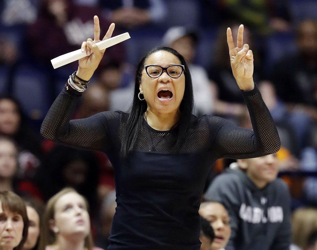 South Carolina head coach Dawn Staley (AP Photo/Mark Humphrey, File)