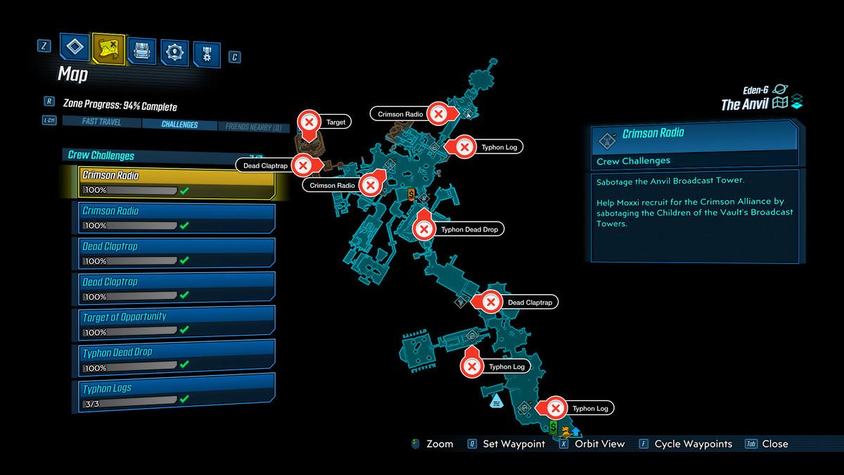 The Anvil map Borderlands 3