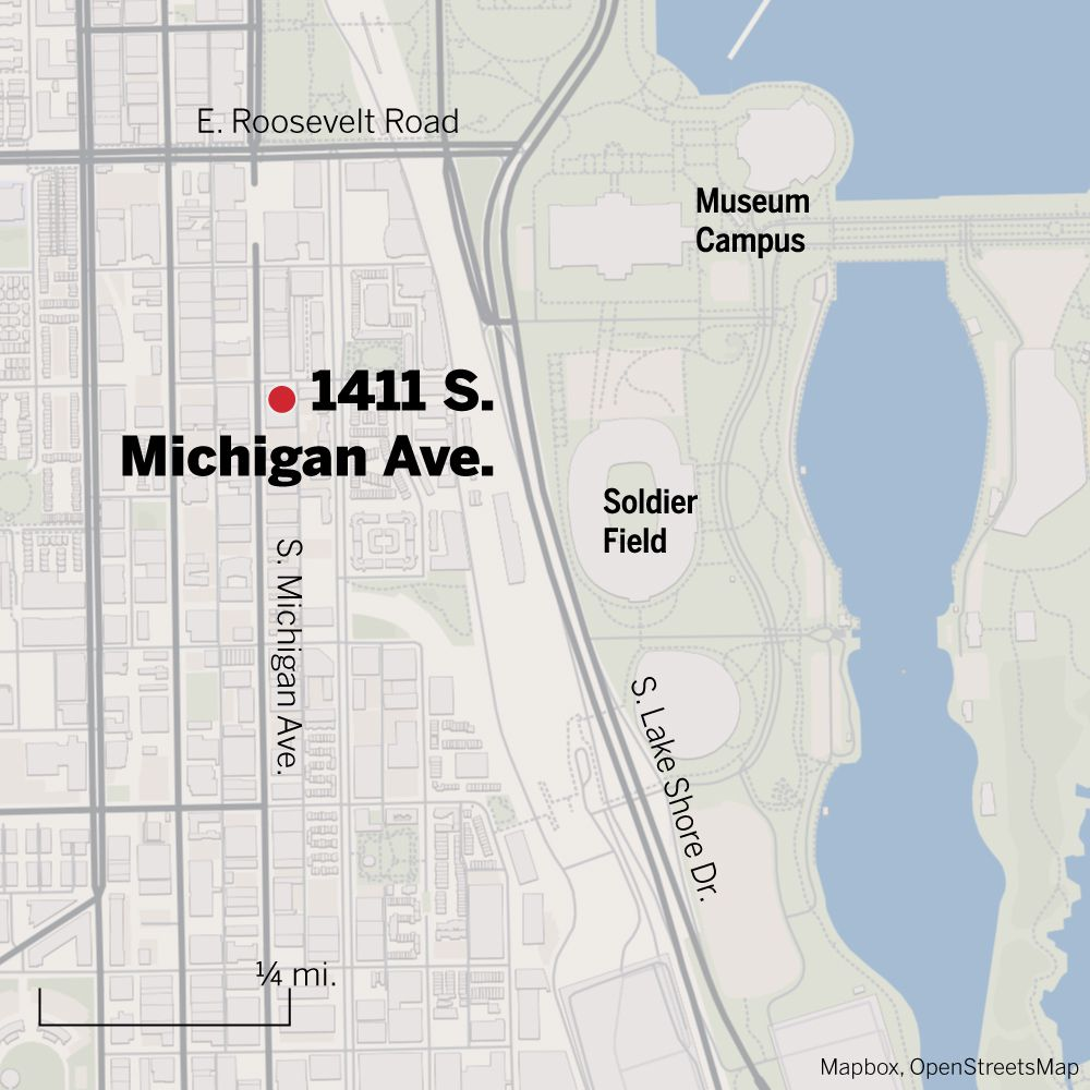 Map of 1411 S. Michigan Ave.