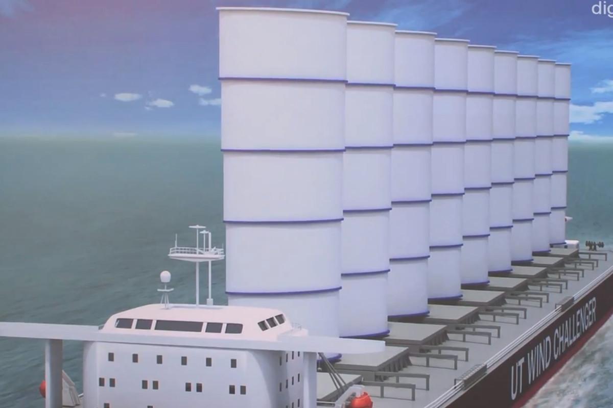 Wind Energy Merchant Vessel Sail